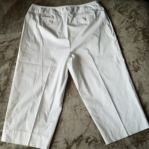Talbots White Classic Capri Stretch Sz 14W